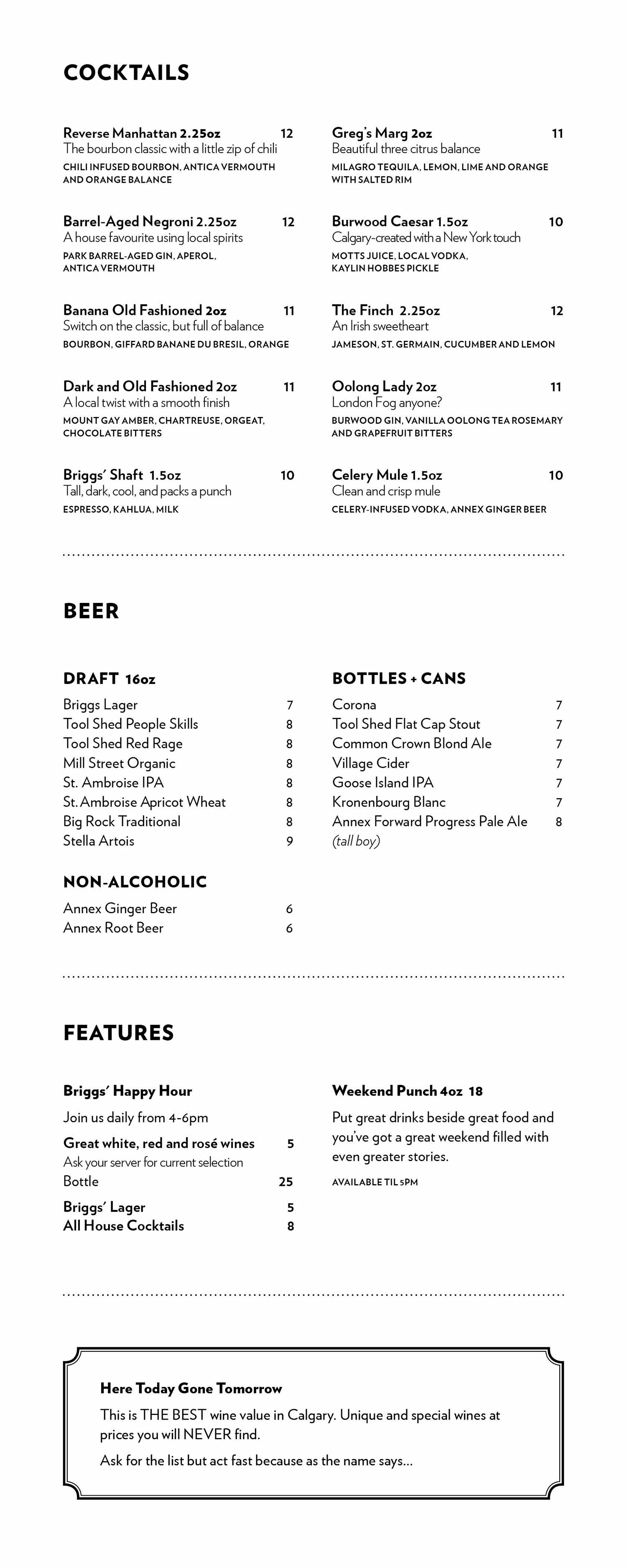 Briggs Kitchen Bar Great Food And Drinks In A Cool Casual